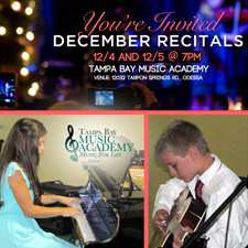 December Christmas Recitals